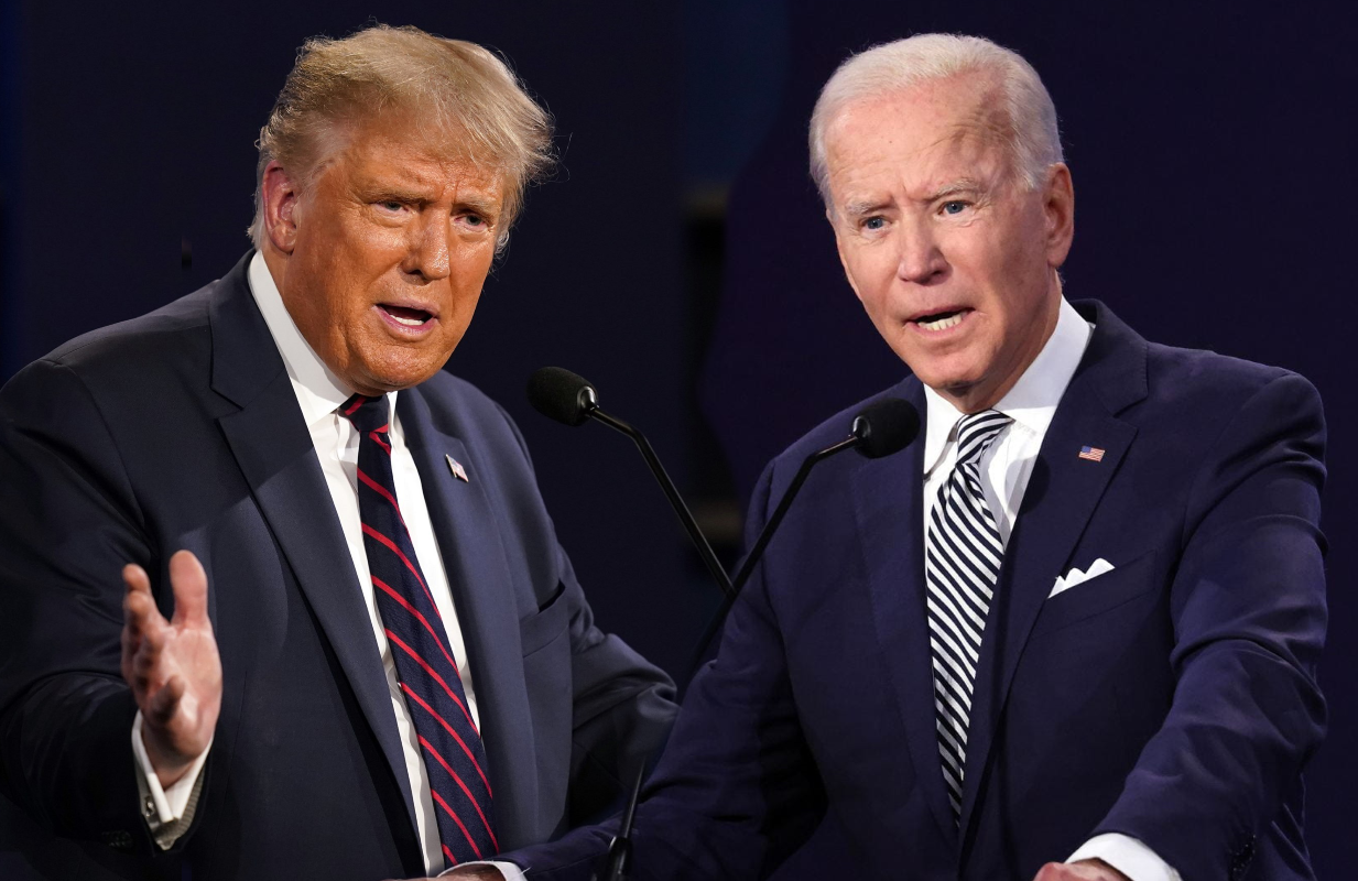Trump and Biden at the first Presidential debate on September 29.