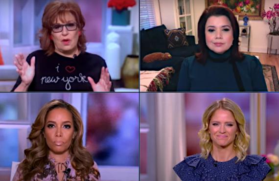 Joy Behar, Ana Navarro, Sunny Hostin, Sara Haines on The View (ABC)