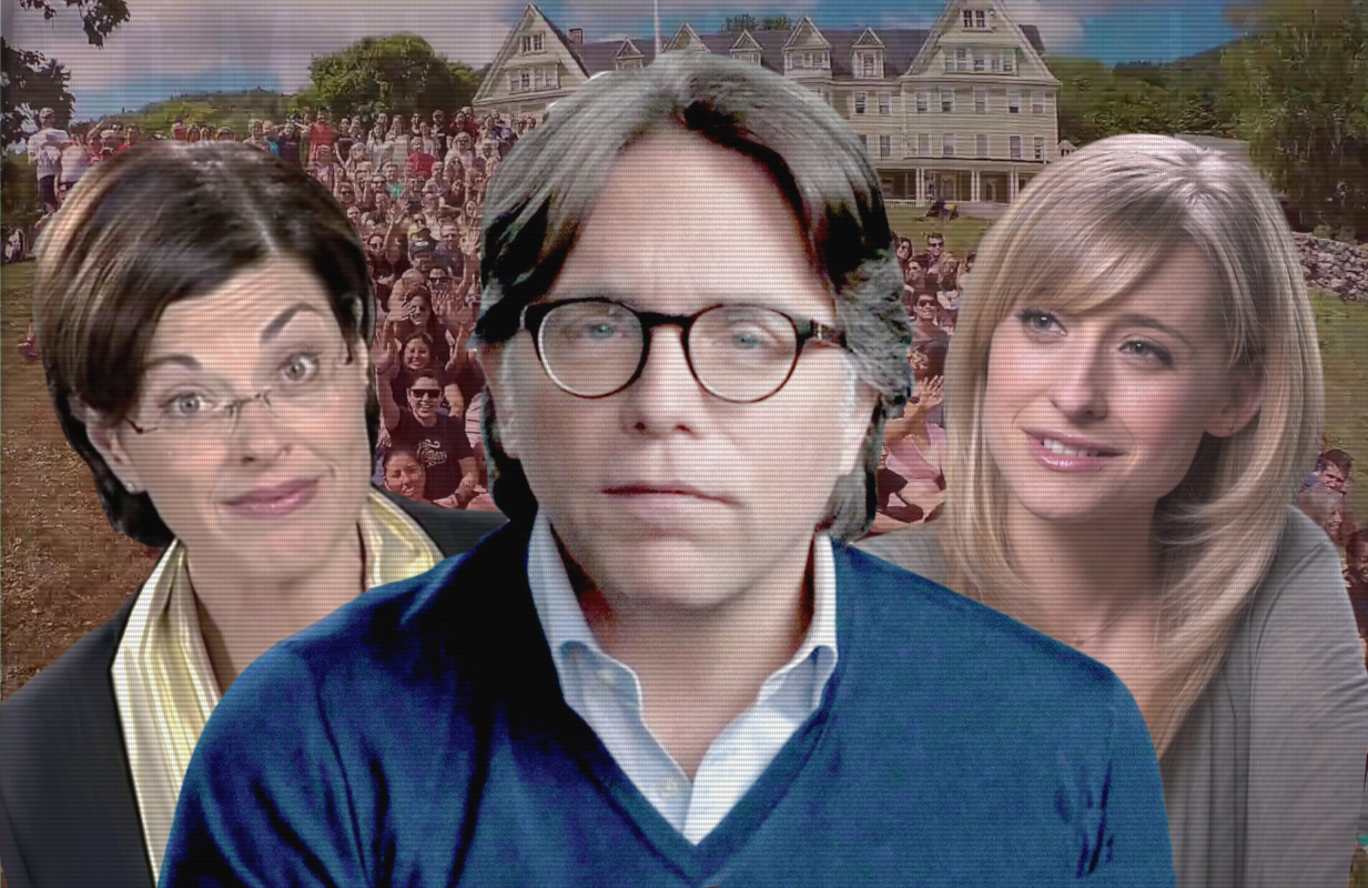 From left to right: Nancy Salzman, Keith Raniere and Allison Mack in The Vow. (Photos: HBO)