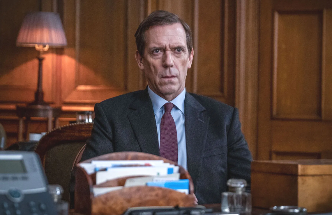 Hugh Laurie stars in Roadkill. (PBS)