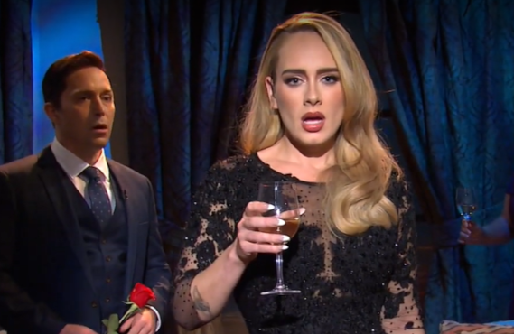 Adele with Beck Bennett on Saturday Night Live (NBC)