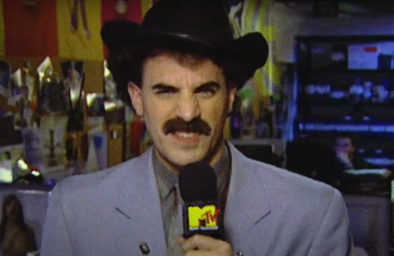 Sacha Baron Cohen as Borat (MTV)