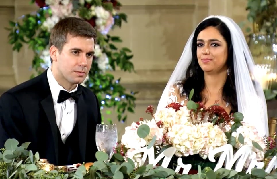 Good times: Married at First Sight's Henry and Christina on their wedding night. (Lifetime)