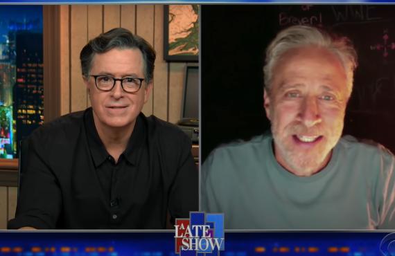Jon Stewart on The Late Show with Stephen Colbert (CBS)