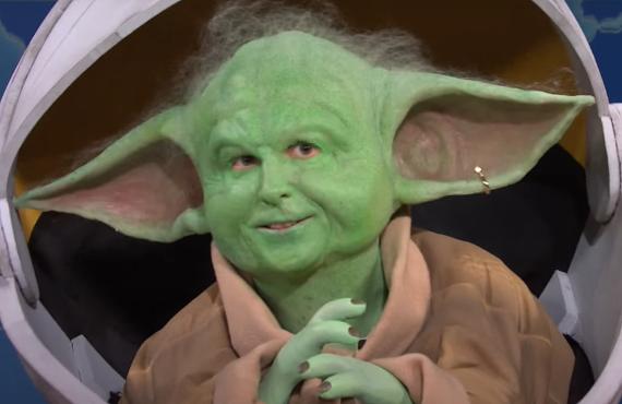 Kyle Mooney as Baby Yoda on Saturday Night Live (NBC)