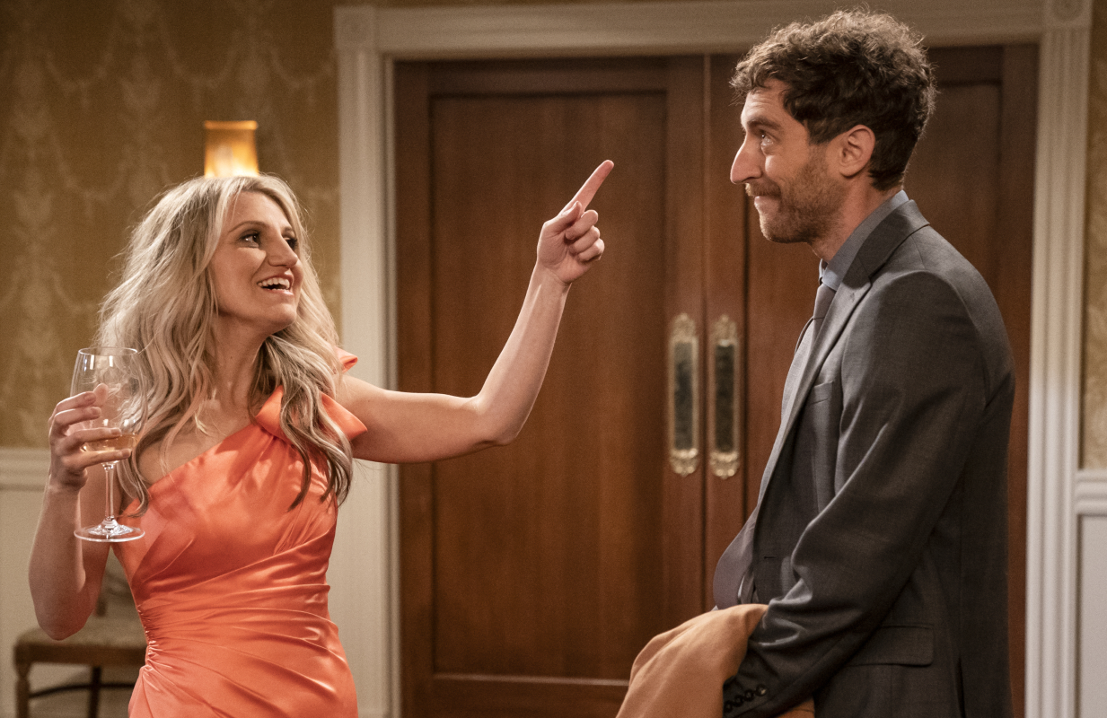Annaleigh Ashford as Gina and Thomas Middleditch as Drew in B Positive. (Photo: Sonja Flemming/CBS)