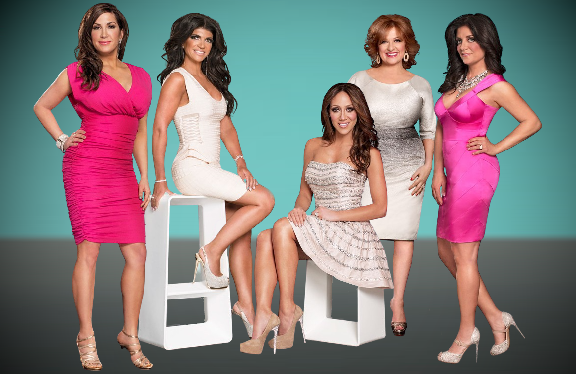 Jacqueline Laurita, Teresa Giudice, Melissa Gorga, Caroline Manzo and Kathy Wakile in a promotional photo for The Real Housewives of New Jersey Season 5. (Bravo)