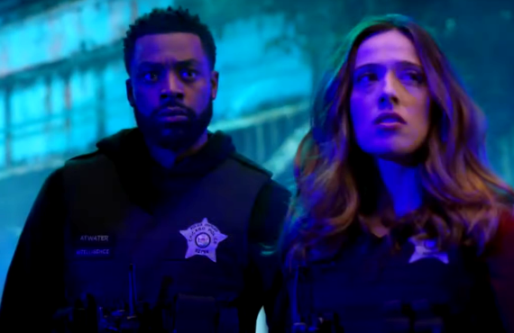 LaRoyce Hawkins and Marina Squarciati in Chicago PD (NBC)