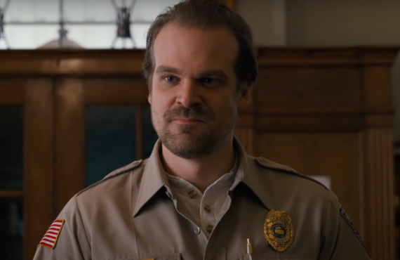 David Harbour as Chief Hopper in Stranger Things (Netflix)
