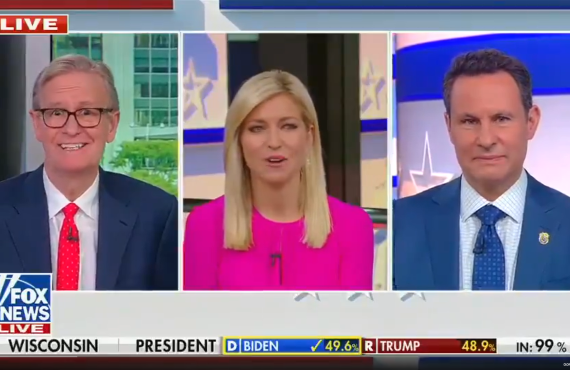 Steve Doocy, Ainsley Earhardt and Brian Kilmeade Friday morning on Fox & Friends.