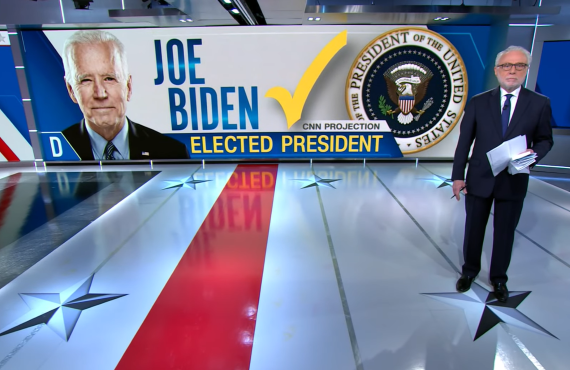 Wolf Blitzer calls it for Biden on CNN