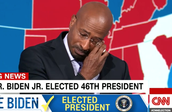 Van Jones cries on CNN