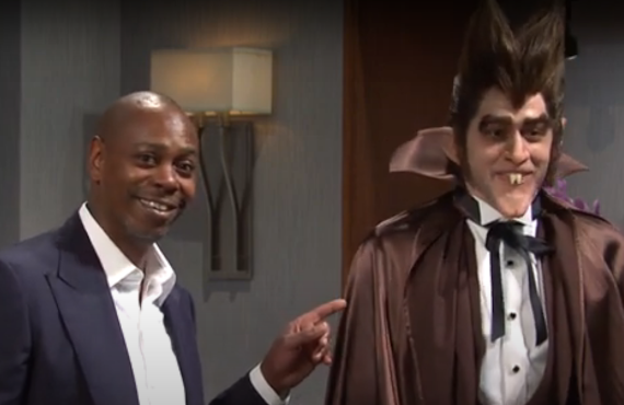 Dave Chappelle and Pete Davidson on Saturday Night Live (NBC)