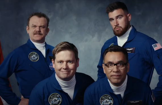 John C. Reilly, Tim Heidecker, Fred Armisen, Travis Kelce in Moonbase 8 (Showtime)