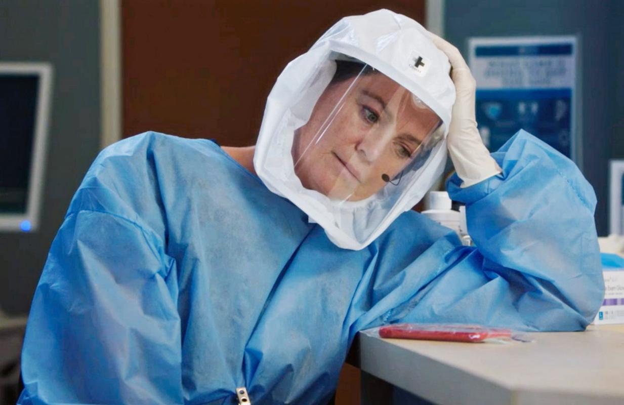 Ellen Pompeo as Dr. Meredith Grey on Grey's Anatomy. (ABC)