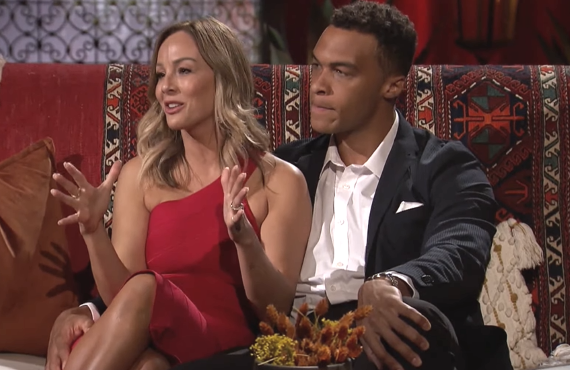 Clare Crawley and Dale Moss on The Bachelorette.