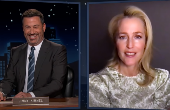 Gillian Anderson on Jimmy Kimmel Live! (ABC)