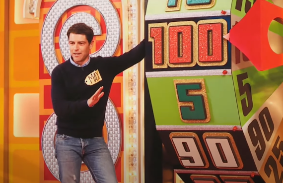 Max Greenfield on The Price Is Right. (CBS)