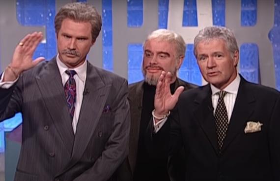 Will Ferrell, Darrell Hammond and Alex Trebek on Saturday Night Live (NBC)
