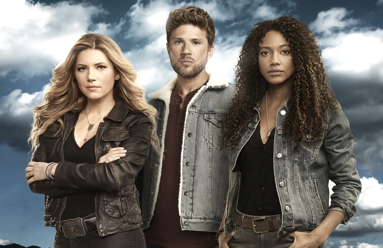 Katheryn Winnick, Ryan Phillippe and Kylie Bunbury star in Big Sky. (ABC)