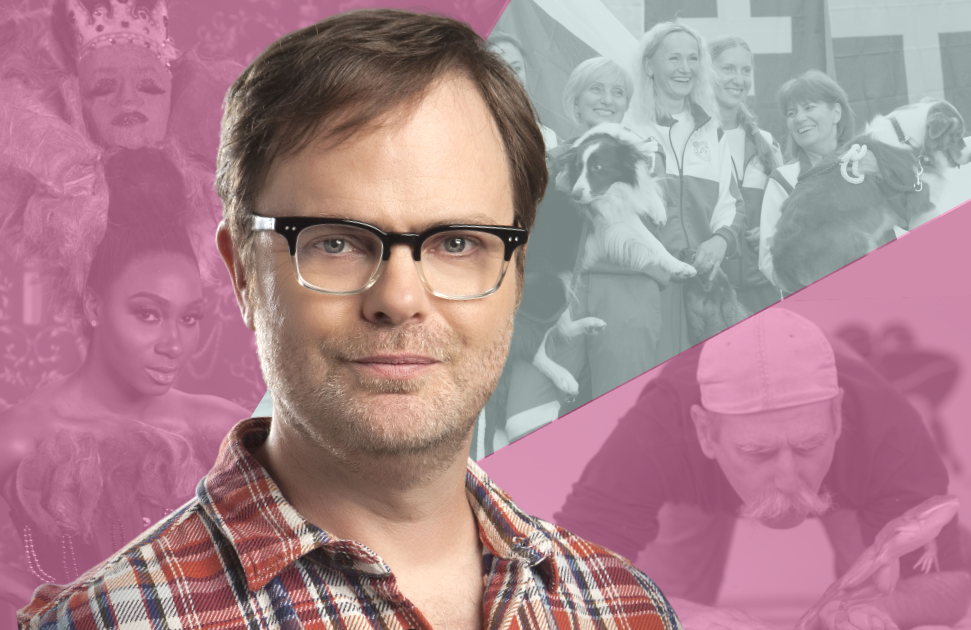 Rainn Wilson hosts We Are The Champions on Netflix.