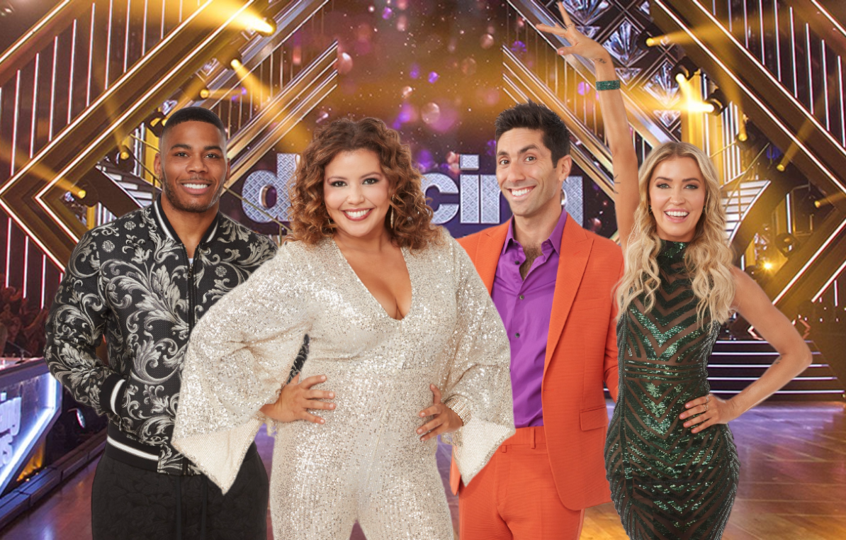 Nelly, Justina Machado, Nev Schulman and Kaitlyn Bristowe compete for the mirror ball trophy in tonight's Dancing With the Stars season closer. (ABC)