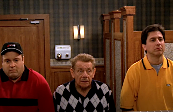 Kevin James, Jerry Stiller, Ray Romano in The King of Queens (CBS)