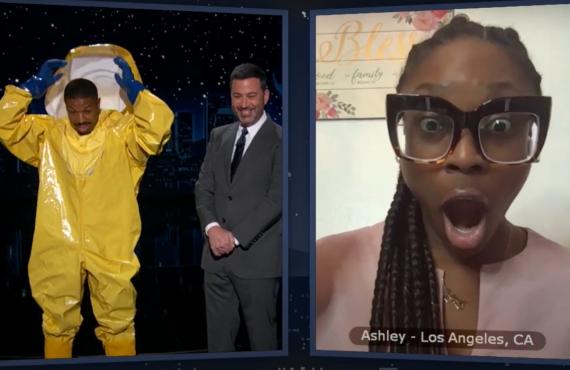 Michael B. Jordan on Jimmy Kimmel Live! (ABC)