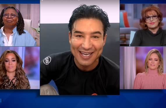 Mario Lopez on The View (ABC)
