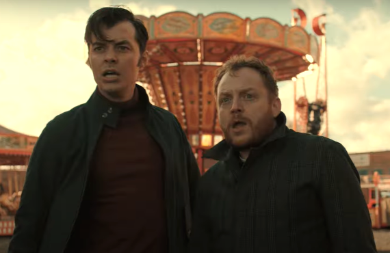 Jack Bannon and Ryan Fletcher in Pennyworth (Epix)