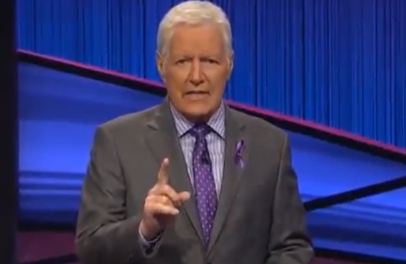 Alex Trebek on Jeopardy! (NBC)