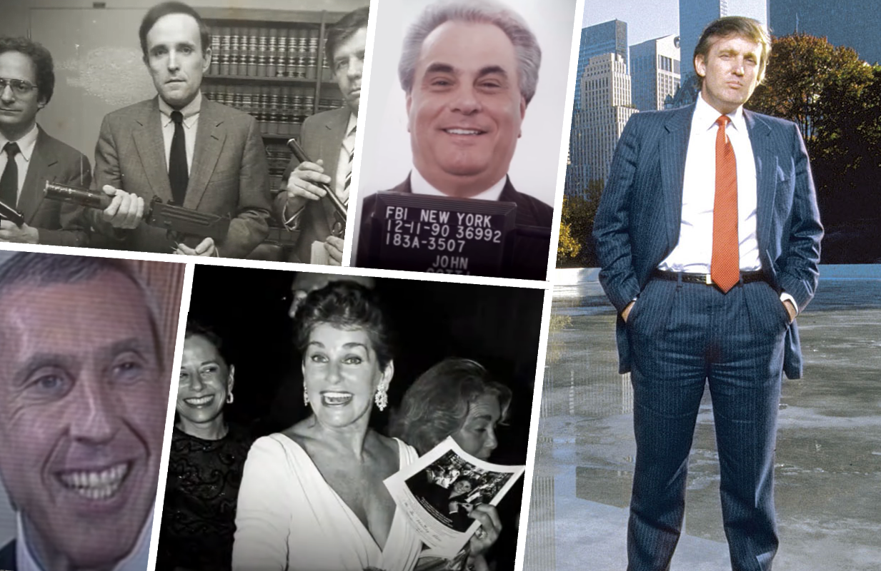 CNBC's Empires of New York tracks the '80s era rise and fall of five high profile New Yorkers: Rudy Giuliani, John Gotti, Ivan Boesky, Leona Helmsley and Donald Trump.