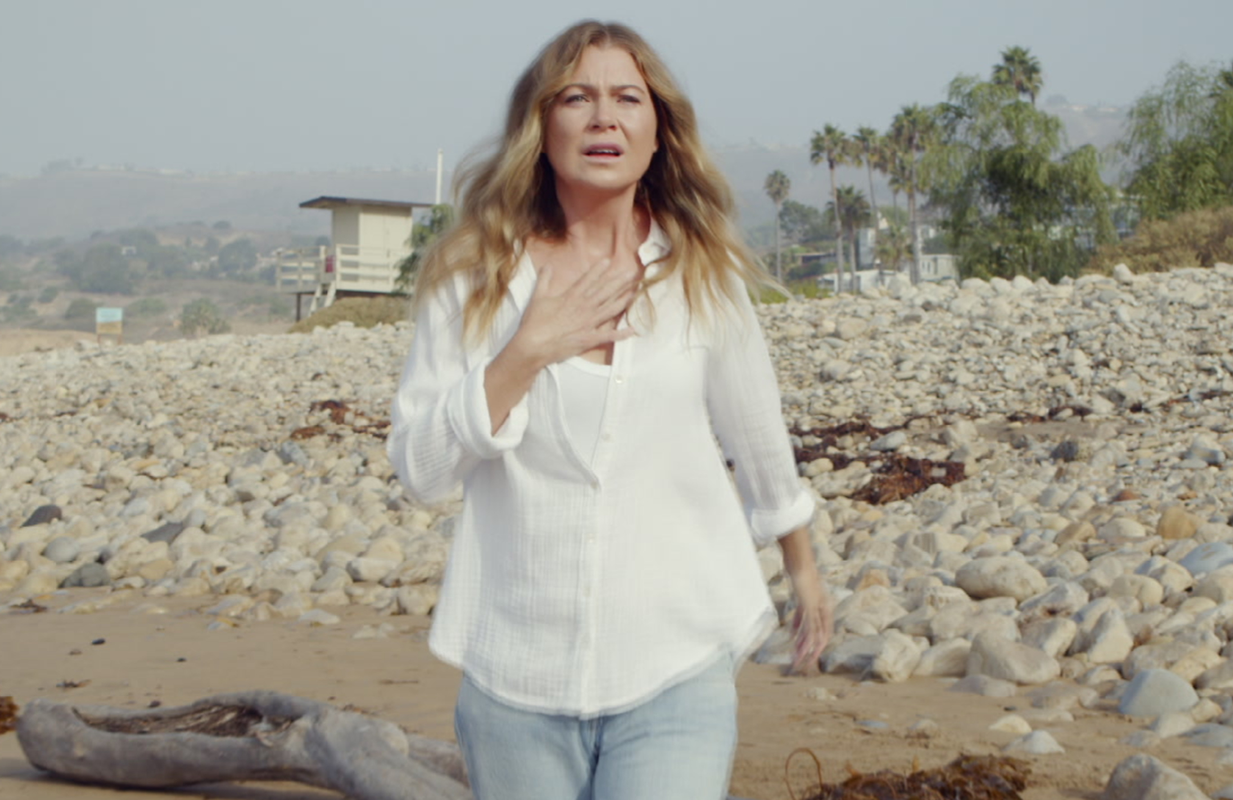 Meredith (Ellen Pompeo) is back on the beach in tonight's Grey's Anatomy. (ABC)