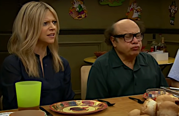 Kaitlin Olson and Danny DeVito in It's Always Sunny in Philadelphia (FX on Hulu)