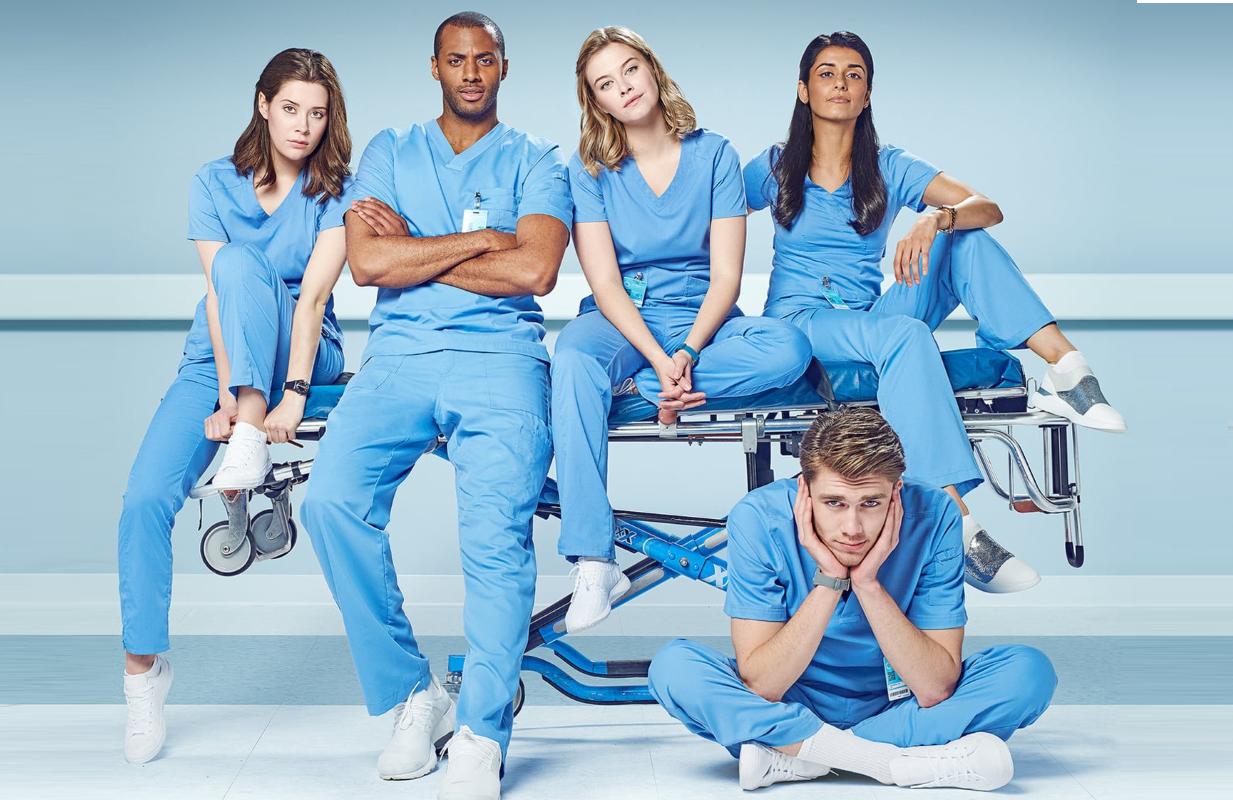 Natasha Calis, Jordan Johnson-Hinds, Tiera Skovbye, Sandy Sidhu and Donald MacLean Jr. star in Nurses. (NBC)
