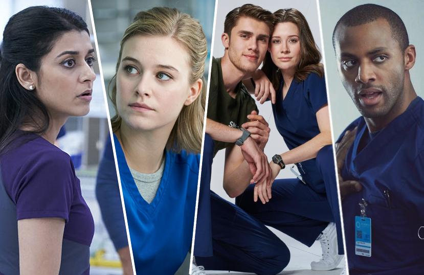 Sandy Sidhu, Tiera Skovbye, Donald MacLean Jr., Natasha Calis, and Jordan Johnson-Hinds star in Nurses. (NBC)