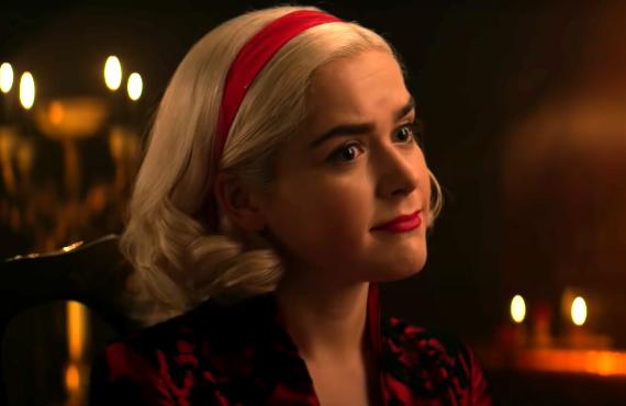 Kiernan Shipka as Sabrina in Chilling Adventures of Sabrina (Netflix)