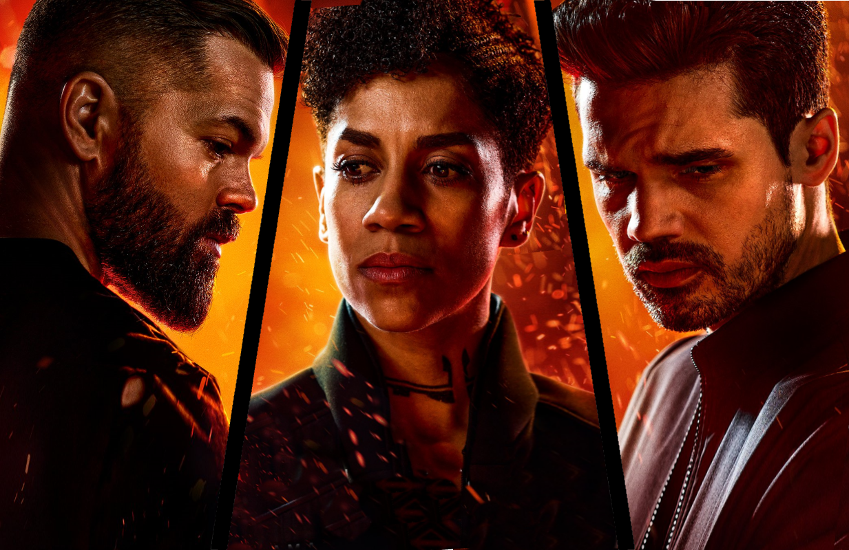 Wes Chatham, Dominique Tipper and Steven Strait star in The Expanse (Amazon)