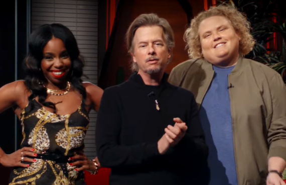 London Hughes, David Spade, Fortune Feimster of The Netflix Afterparty (Netflix)