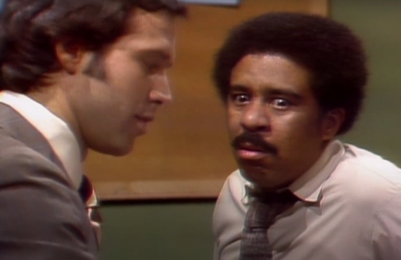 Chevy Chase and Richard Pryor on Saturday Night Live (NBC)
