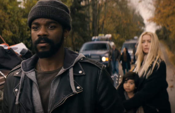 Jovan Adepo and Amber Heard in The Stand (CBS All Access)