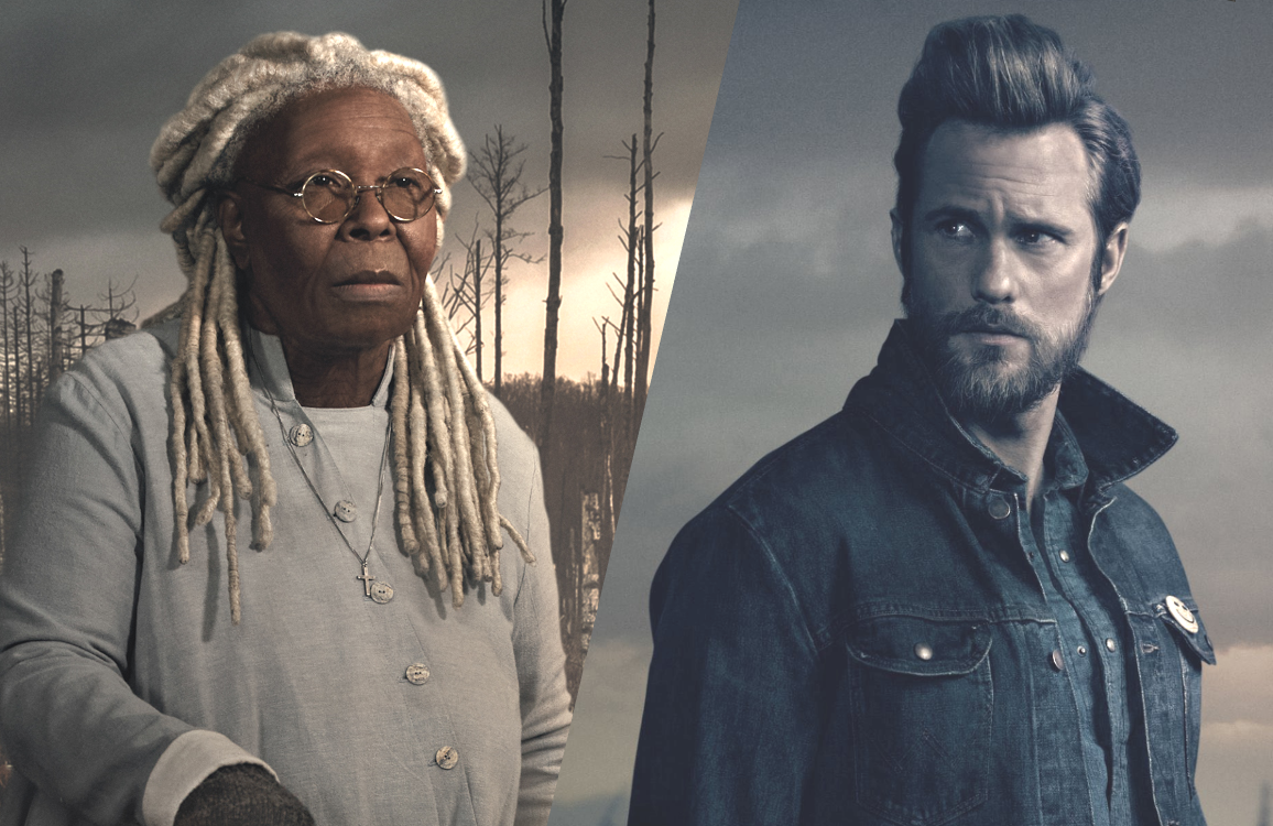 Mother Abagail (Whoopi Goldberg) and the Dark Man (Alexander Skarsgard) in The Stand (CBS All Access)