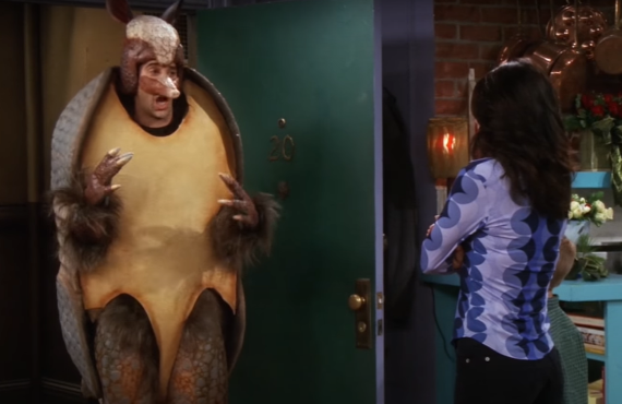 David Schwimmer as the Holiday Armadillo on Friends (NBC)