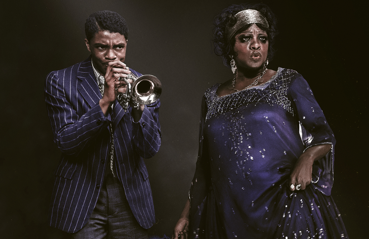 Chadwick Boseman and Viola Davis in Ma Rainey's Black Bottom. (Photo: Netflix)