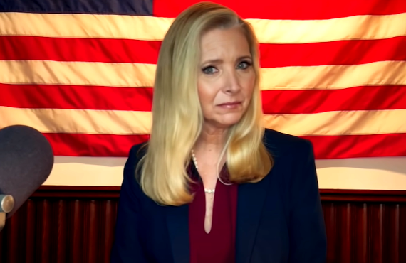Lisa Kudrow in Death to 2020 (Netflix)