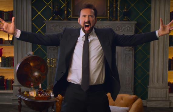 Nicolas Cage in History of Swear Words (Netflix)
