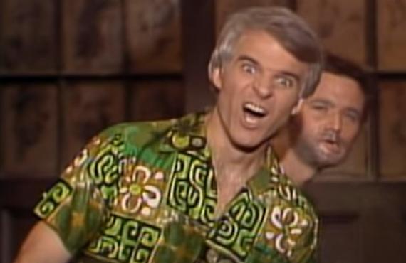 Steve Martin and Bill Murray on Saturday Night Live (NBC)