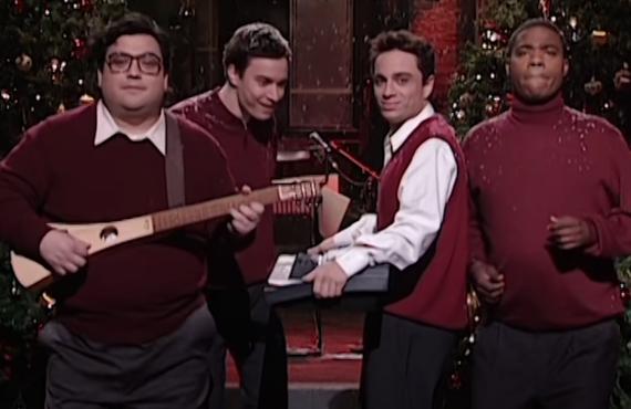Horatio Sanz, Jimmy Fallon, Chris Kattan, Tracy Morgan on Saturday Night Live (NBC)