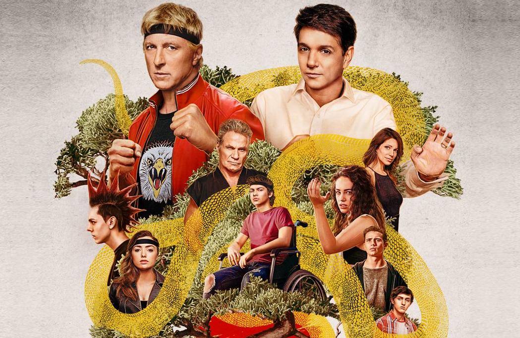 A promotional image for Cobra Kai Season 3. (Netflix)