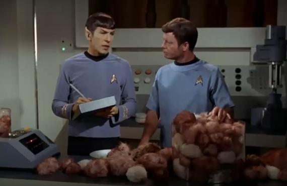 Leonard Nimoy and DeForest Kelley in Star Trek: The Original Series
